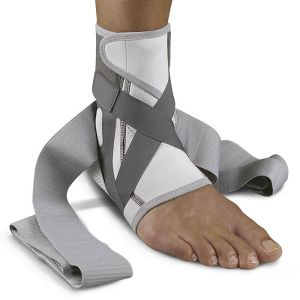 Push med Ankle Brace being worn on the ankle