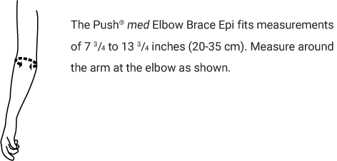 Push med Elbow Brace Epi Sizing Chart