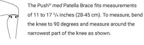 Push med Patella Brace Sizing Chart