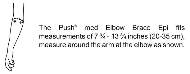Push med Elbow Brace Epi Sizing Chart