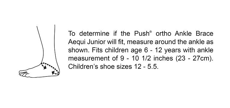 Push ortho Ankle Brace Aequi Junior Sizing Chart