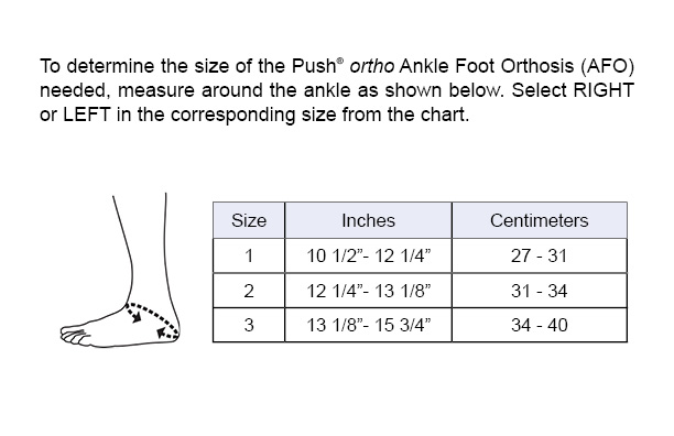 AFO Sizing Chart
