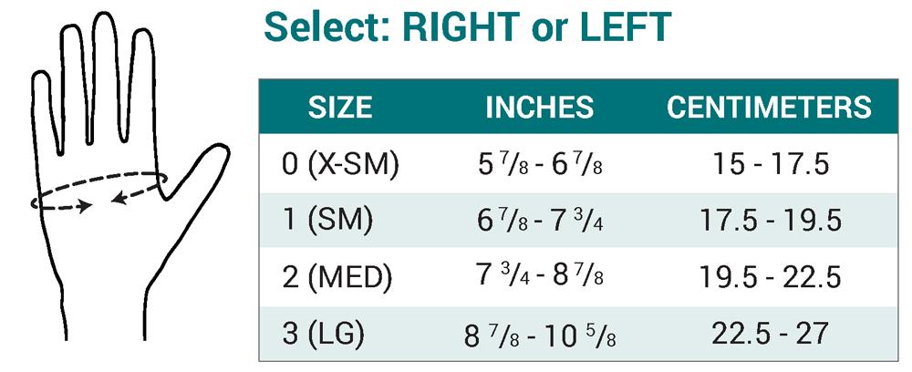 Push MetaGrip Size Chart