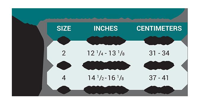 Push med Knee Brace Size Chart