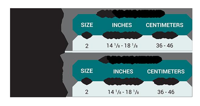Push med Neck Brace Size Chart