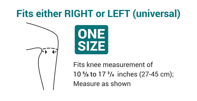 Push med Patella Brace Size Chart