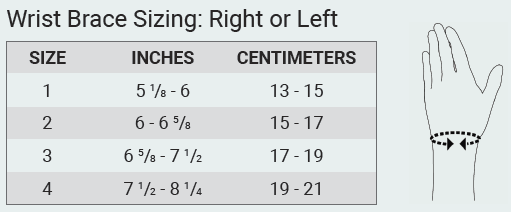 Push care Ankle Brace Size Chart