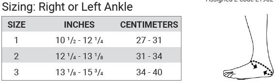 Push ortho Ankle Brace Aequi Size Chart